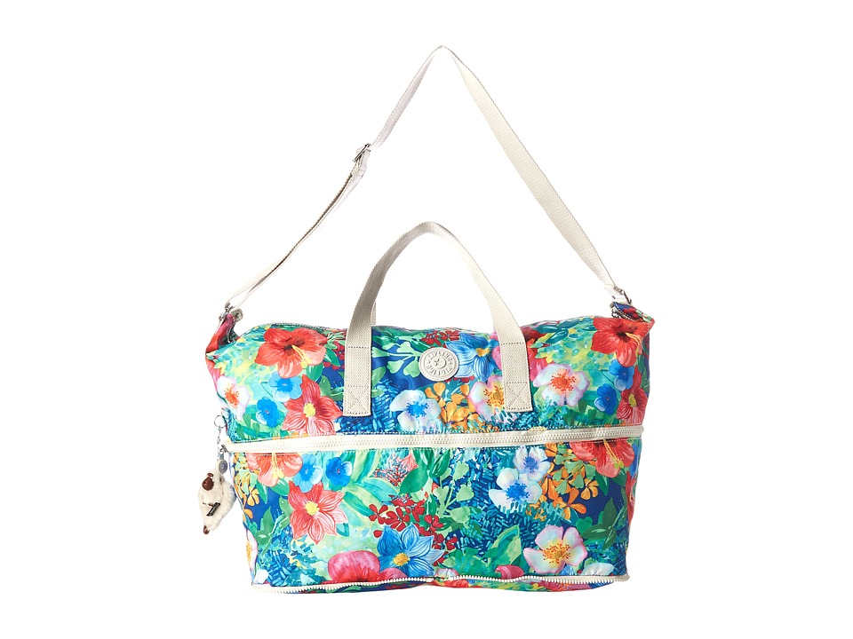 Kipling Jonah Foldable Tote Tropical Garden Print Tote Handbags