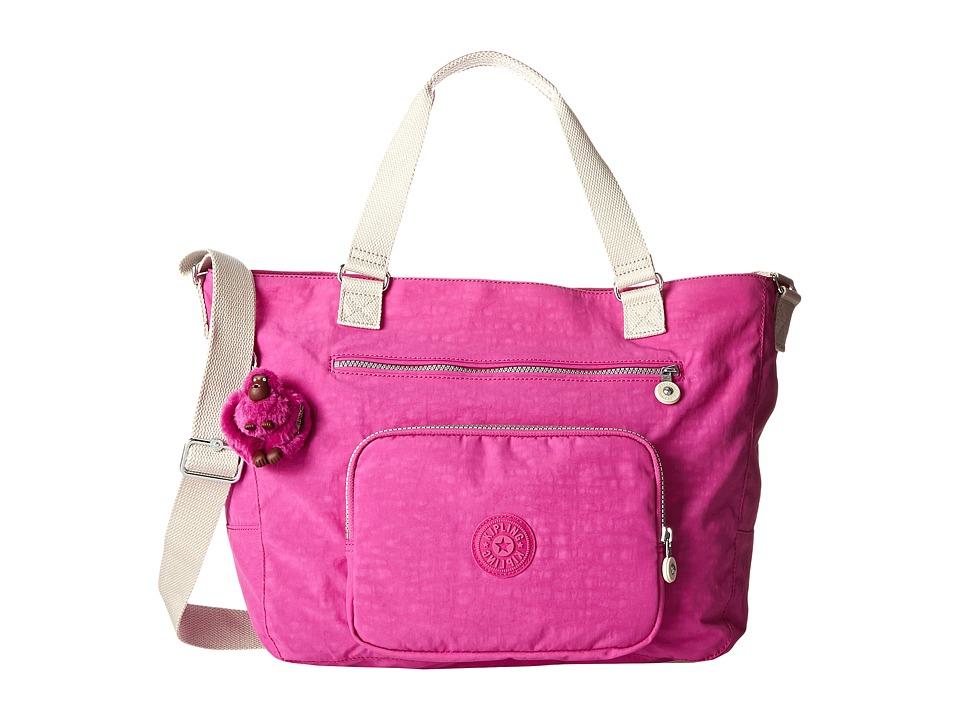 Kipling Maxwell Tote Pink Orchid Mix Tote Handbags