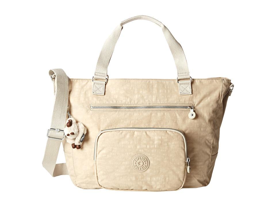 Kipling Maxwell Tote Creme Beige Mix Tote Handbags