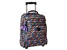 Kipling Sanaa Wheeled Backpack (Black Whimsical Windows Print Block)
