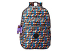 Kipling Seoul Backpack with Laptop Protection (Black Whimsical Windows Print Block)