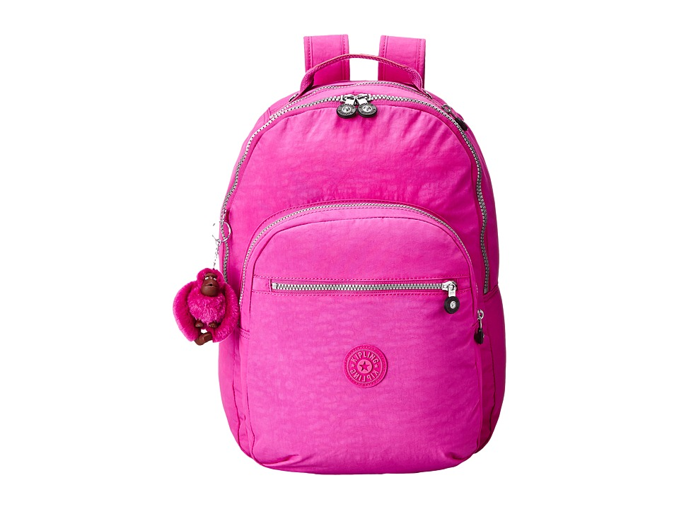 Kipling Seoul Backpack with Laptop Protection Pink Orchid Backpack Bags