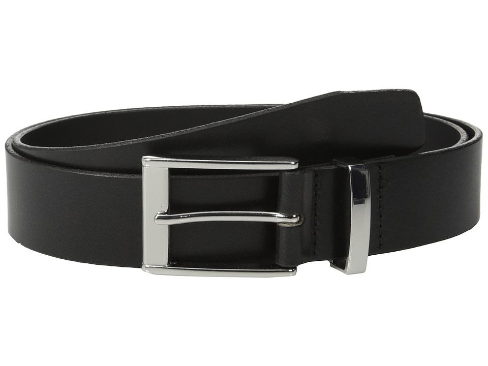 Johnston amp Murphy Metal Loop Dress Black Mens Belts