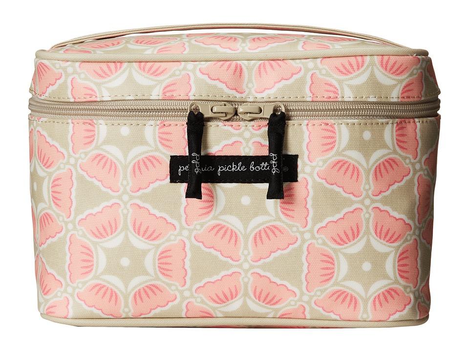 petunia pickle bottom - Glazed Travel Train Case (Blooming Brixham) Wallet
