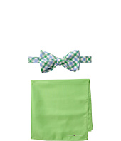 Tommy Hilfiger - Gingham Solid Bowtie and Pocket Square Settie and Pocket Square Set