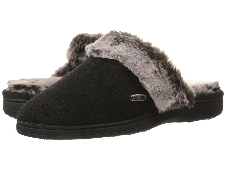 Image of Acorn - Chinchilla Scuff (Black) Women's Slippers