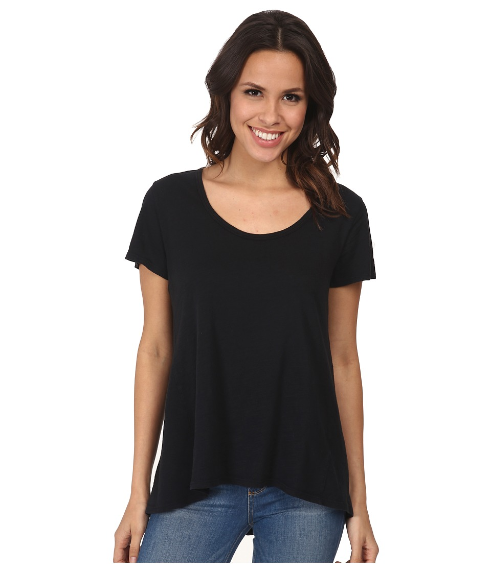 Fresh Produce Luna Top Black Womens Short Sleeve Pullover