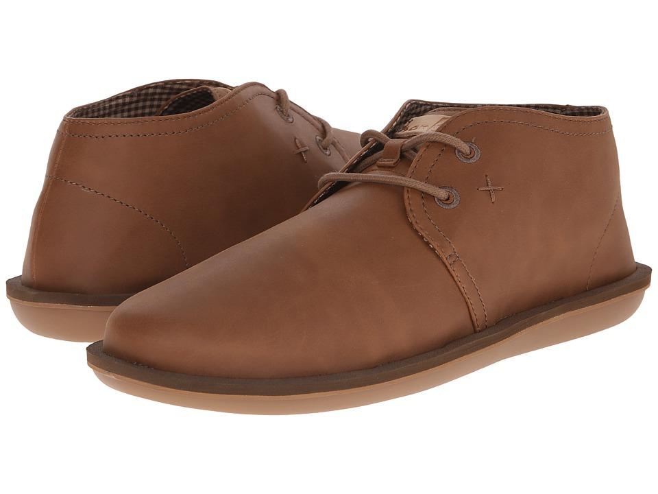 Sanuk Koda Select Light Brown Mens Lace up casual Shoes