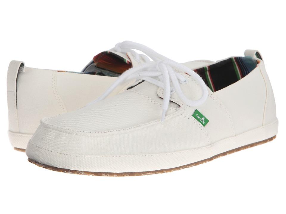 Sanuk Admiral White Mens Slip on Shoes