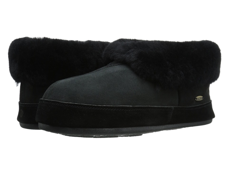 Acorn - Sheepskin Bootie II (Black) Men's  Shoes