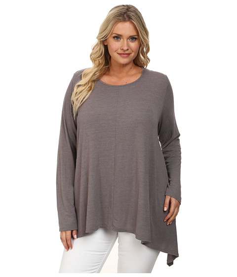 Fresh Produce Plus Size Studio Top (Grey Smoke) Women's Clothing