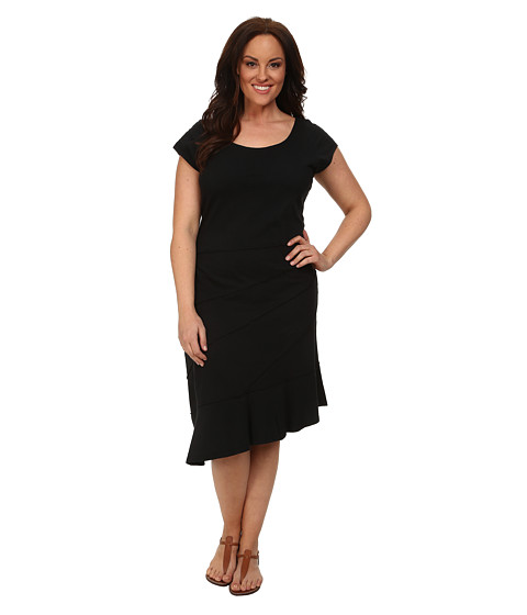 Fresh Produce Plus Size Sunburst Dress (Black) Women's Dress