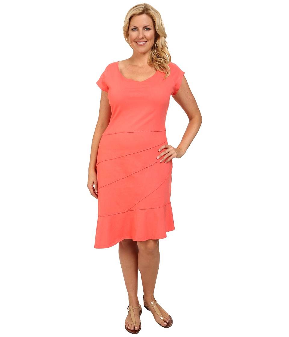 Fresh Produce - Plus Size Sunburst Dress (Red Coral) Women's Dress