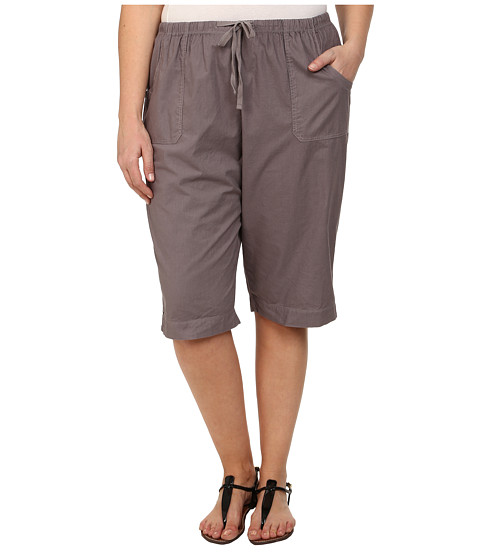 Fresh Produce Plus Size Park Ave Pedal Pusher (Grey Smoke) Women's Shorts