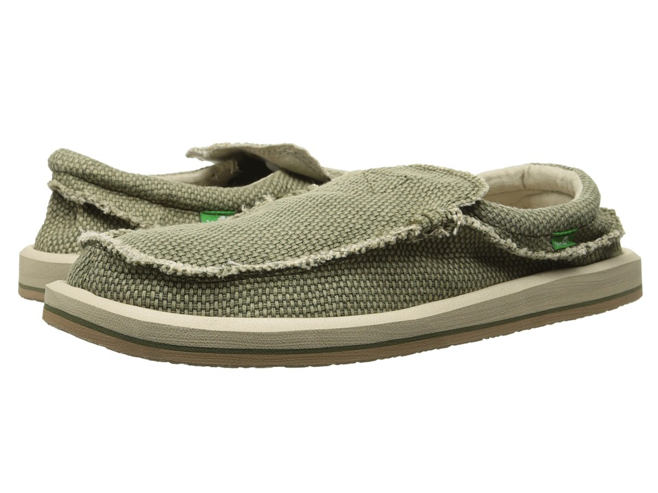 Sanuk Chiba Olive Mens Slip on Shoes