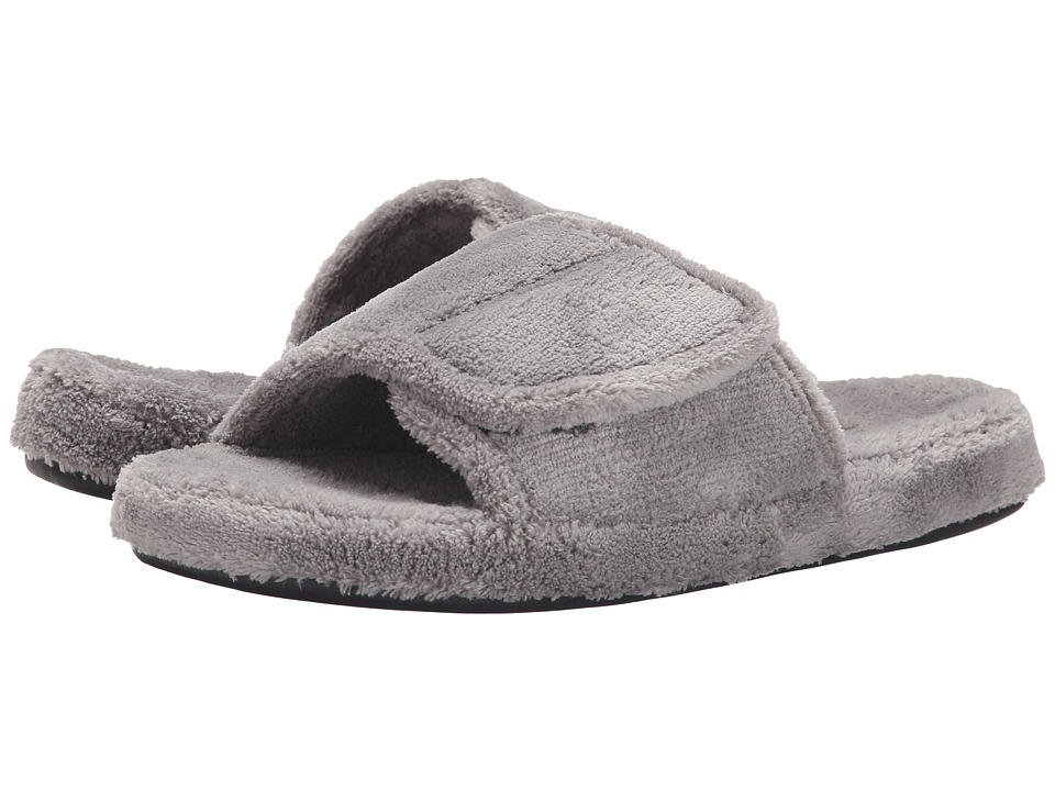 Acorn - Spa Slide (Grey) Mens Slippers