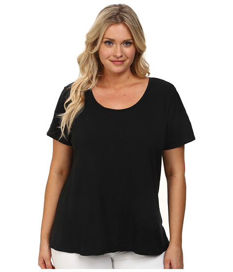 Fresh Produce Plus Size Luna Top (Black) Women's Clothing