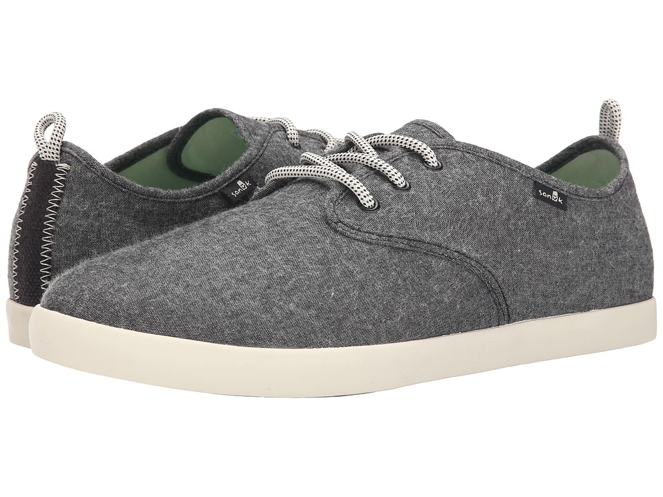 Sanuk Guide TX Black Chambray Mens Lace up casual Shoes