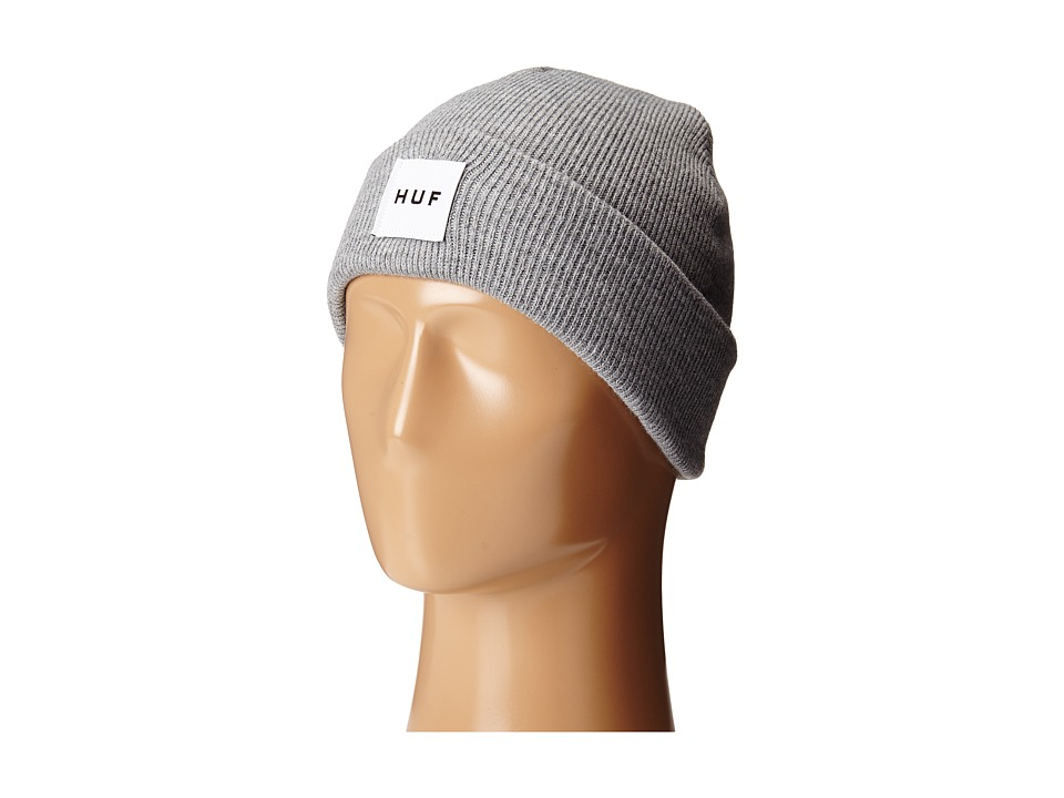 HUF Box Logo Beanie Grey Heather Beanies