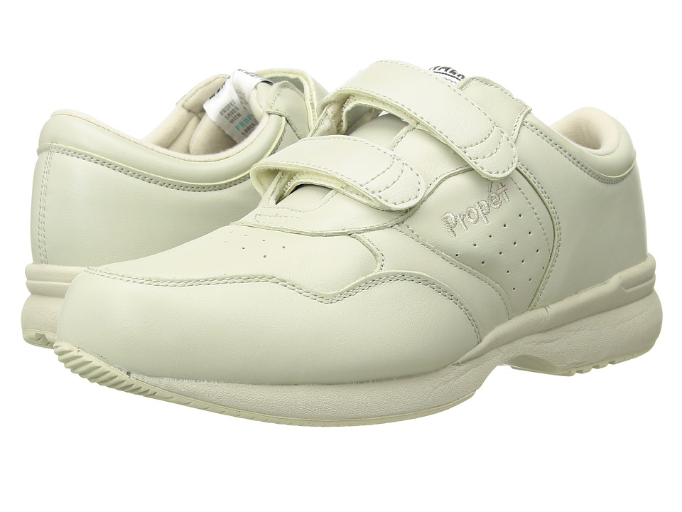 Propet - Life Walker Strap Medicare/HCPCS Code = A5500 Diabetic Shoe (Sport White) Mens Hook and Loop Shoes