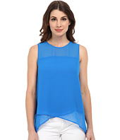 Vince Camuto - Sleeveless Blouse w/ Asymmetrical Layered Hem