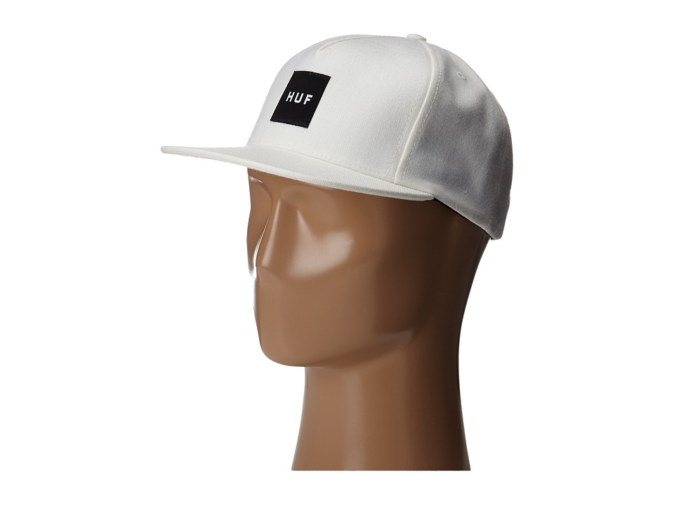 HUF Box Logo Snapback White Caps