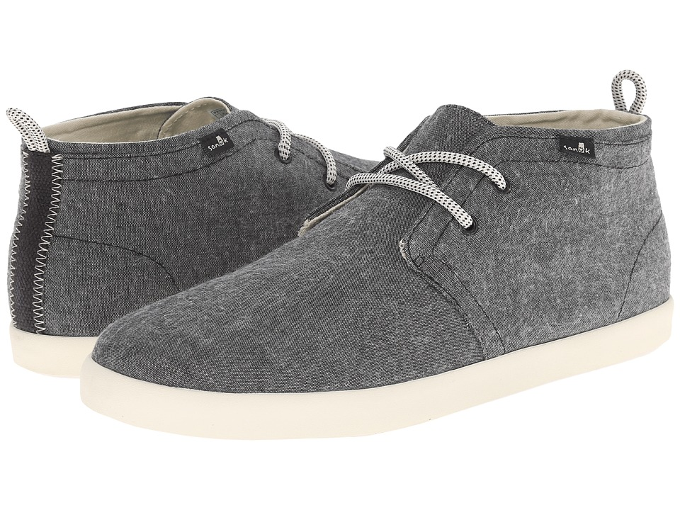 Sanuk Cargo TX Black Chambray Mens Lace up casual Shoes