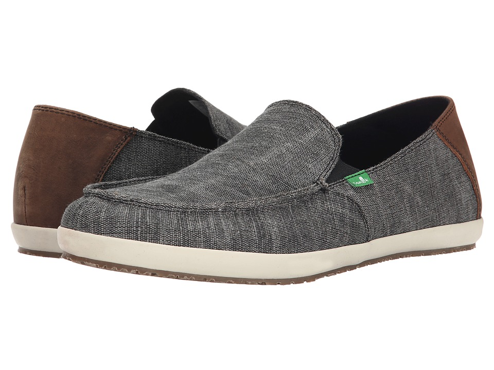 Sanuk Casa Vintage Black Mens Slip on Shoes