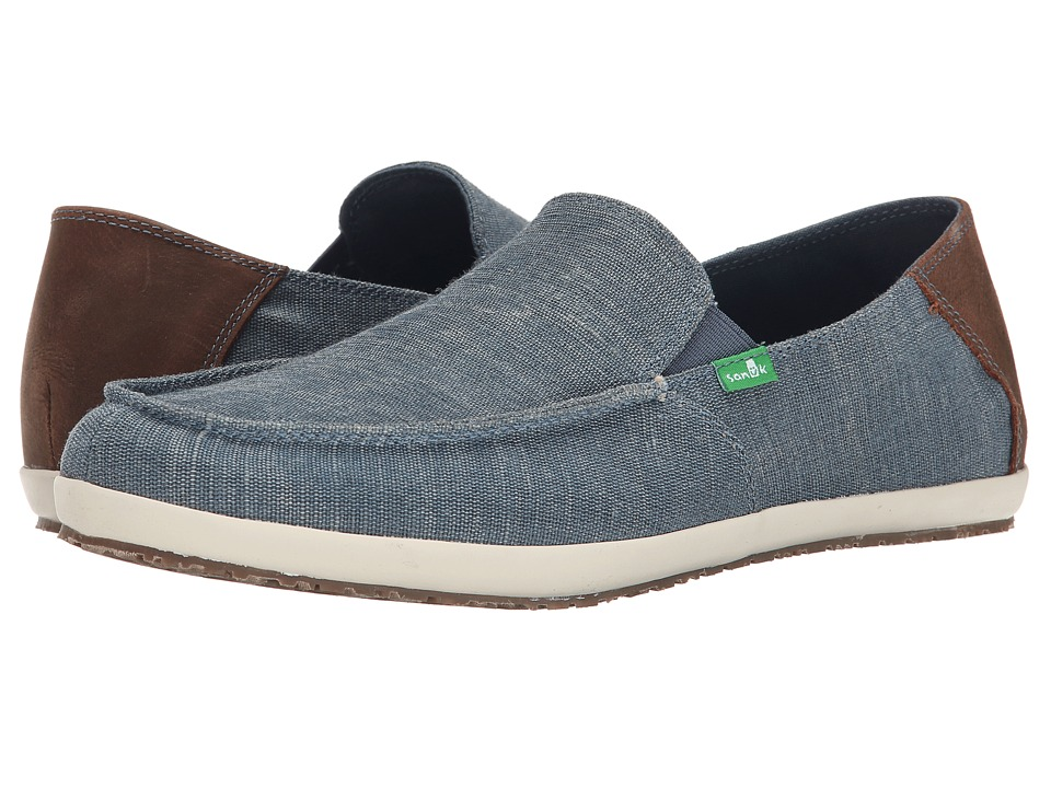 Sanuk Casa Vintage Blue Mens Slip on Shoes