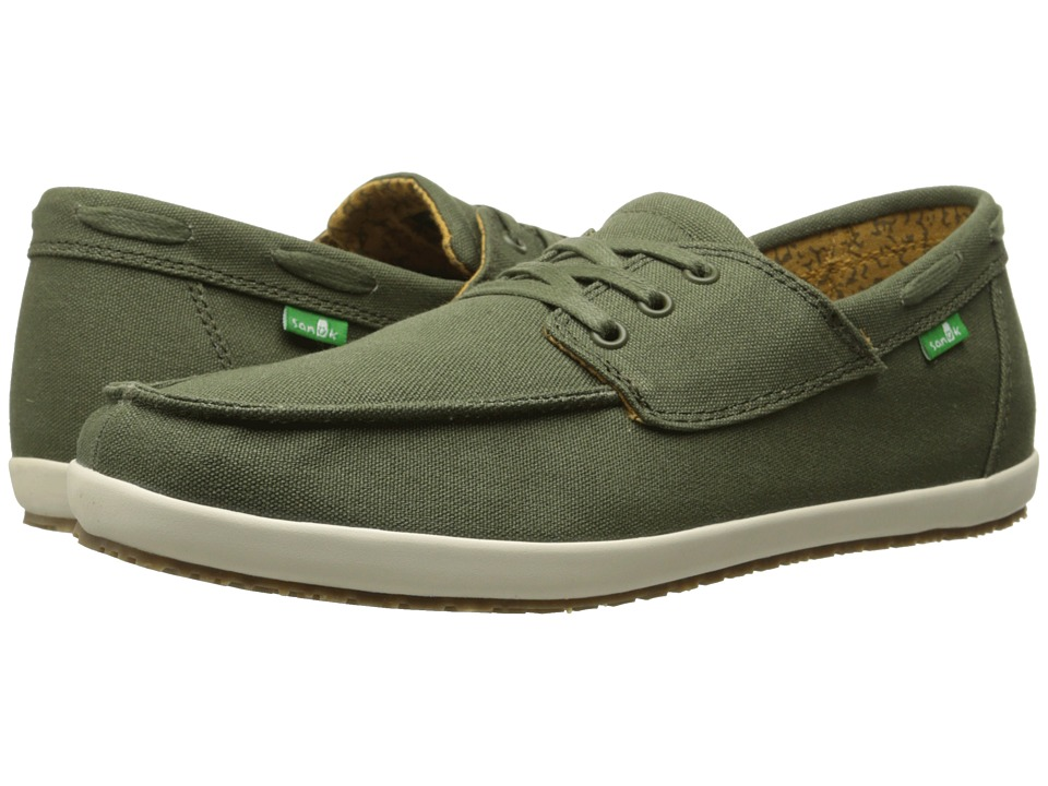 Sanuk Casa Barco Olive Mens Lace up casual Shoes