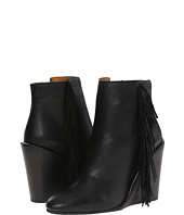 See by Chloe - Pebbled Leather Wedge Bootie with A Fringe