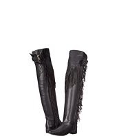 See by Chloe - Pebbled Leather Over The Knee Boot with A Fringe