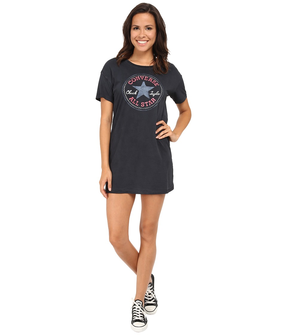 Converse Chuck Patch Short Sleeve Tee Dress Black Womens Dress