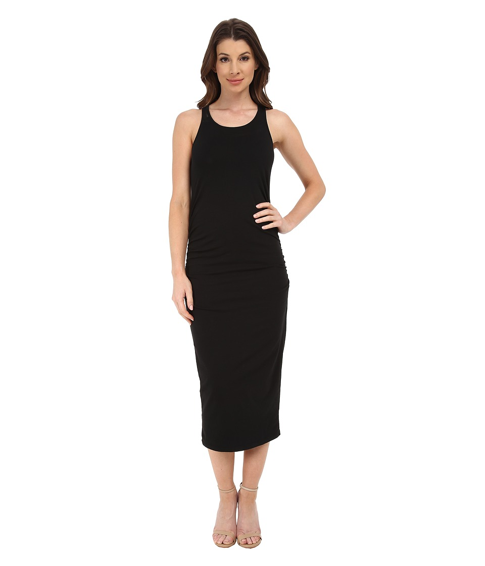 Michael Stars Racerback Dress w/ Shirring (Black) Women