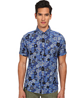 Marc by Marc Jacobs - Floral Print Chambray Short Sleeve Shirt