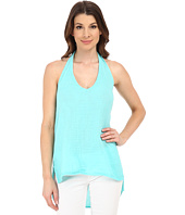 Michael Stars - Double Gauze Halter Top w/ Side Slits