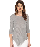 Michael Stars - Viscose Stripe Elbow Sleeve Scoop Neck