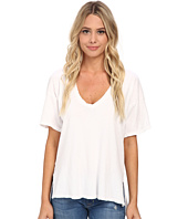 Michael Stars - Worn In Short Sleeve Vee Neck Hi Low