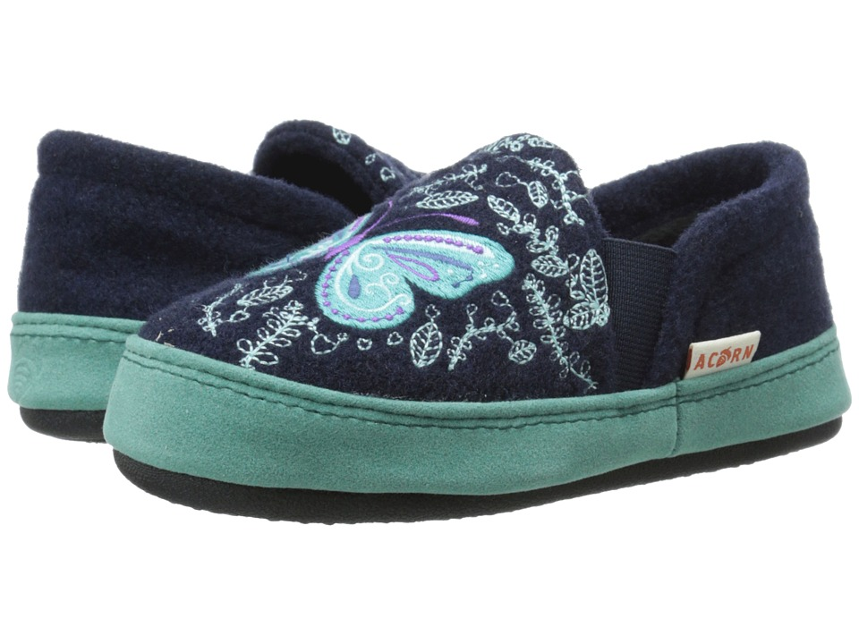 Acorn Kids Colby Gore Moc (Toddler/Little Kid/Big Kid) (Navy Butterfly) Girls Shoes