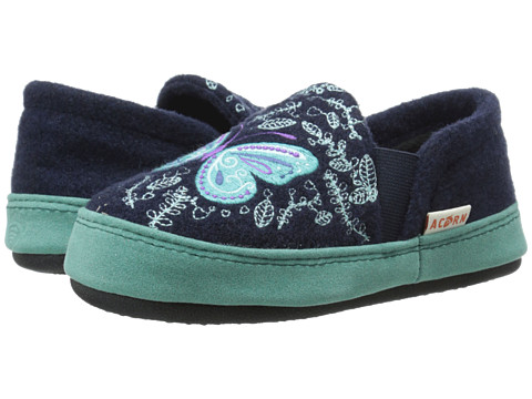 Acorn Kids Colby Gore Moc (Toddler/Little Kid/Big Kid) - Navy Butterfly