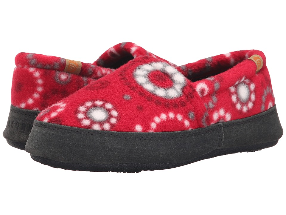 Acorn Kids Acorn Moc Kids Toddler/Little Kid/Big Kid Red Dots Girls Shoes