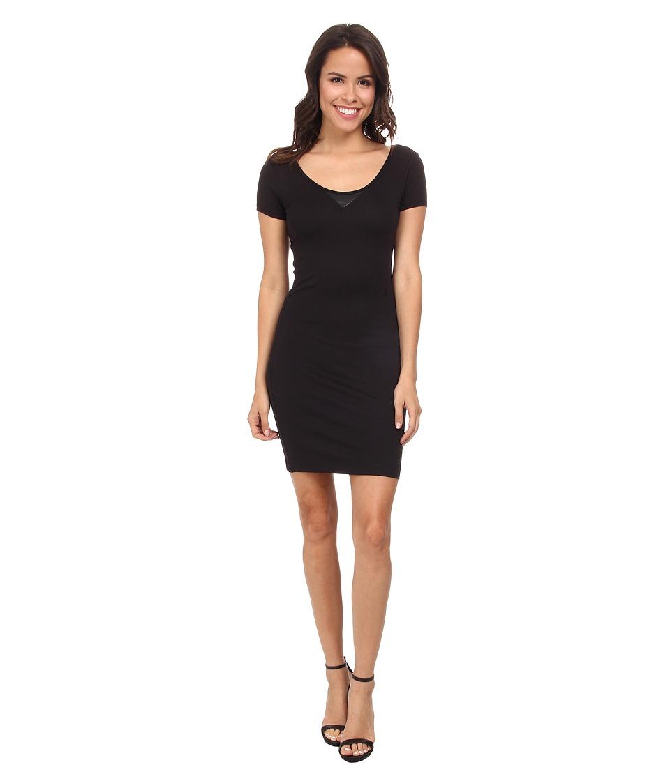 G Star US Slim Isyd R T Long Short Sleeve Black Womens Dress
