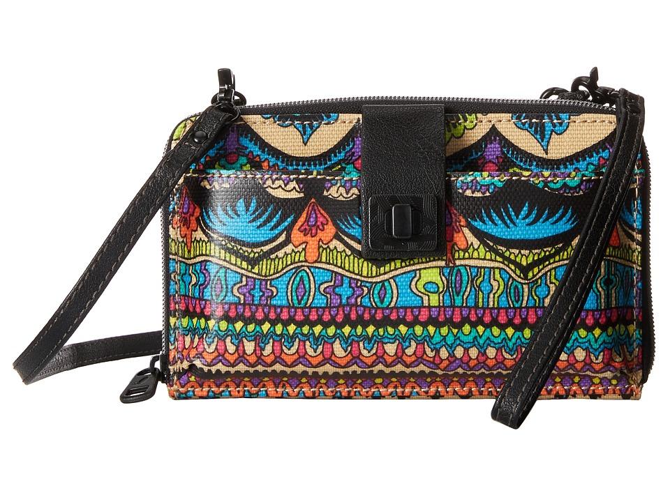 Sakroots - Artist Circle Large Smartphone Crossbody (Radiant One World) Clutch Handbags