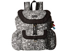 Sakroots Sakroots Artist Circle Flap Backpack (Black/White Spirit Desert)