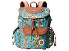 Sakroots Sakroots Artist Circle Flap Backpack (Teal Spirit Desert)