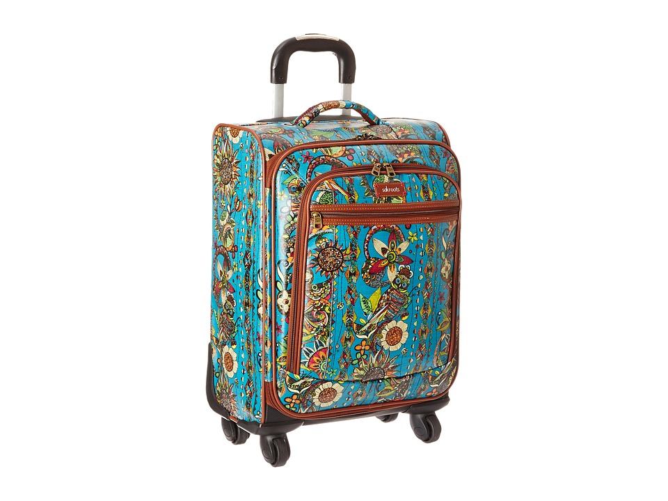 Sakroots Sak Roots Carry On Suitcase Teal Spirit Desert Carry on Luggage