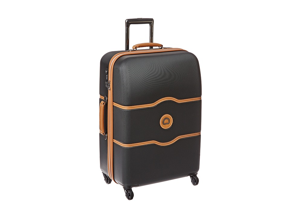 Delsey Chatelet 24 Spinner Trolley Black Pullman Luggage