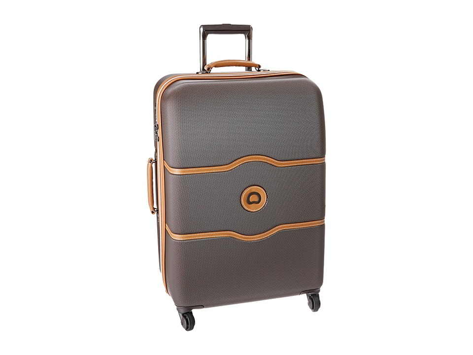 Delsey Chatelet 24 Spinner Trolley Brown Pullman Luggage