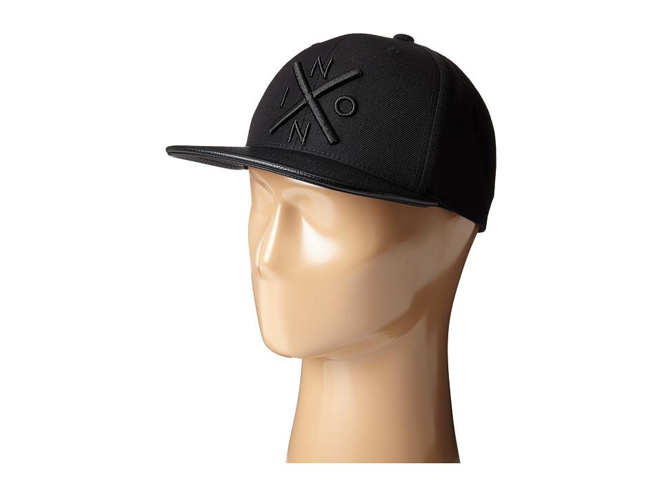 Nixon - Exchange Snap Back Hat (All Black/Black) Caps