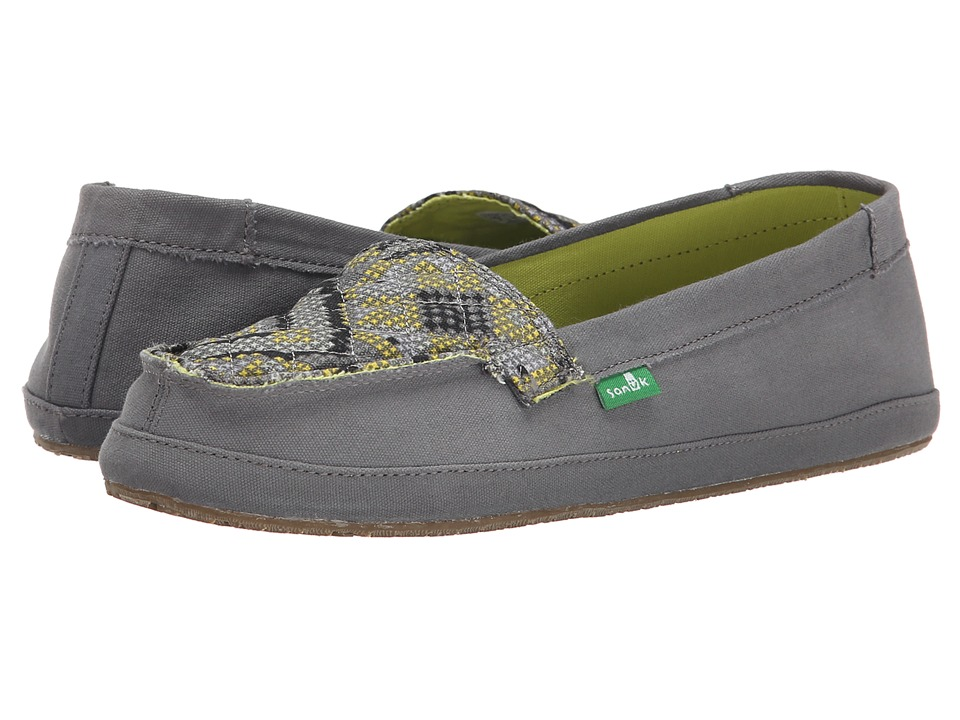 Sanuk - Cross Stitch (Charcoal/Highlighter) Women